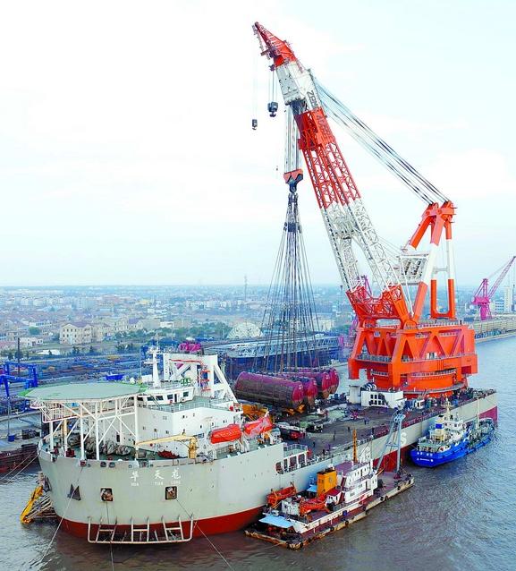 El Hua Tian Long; imagen cortesía de China Rescue and Salvage, Ministerio de Transporte chino