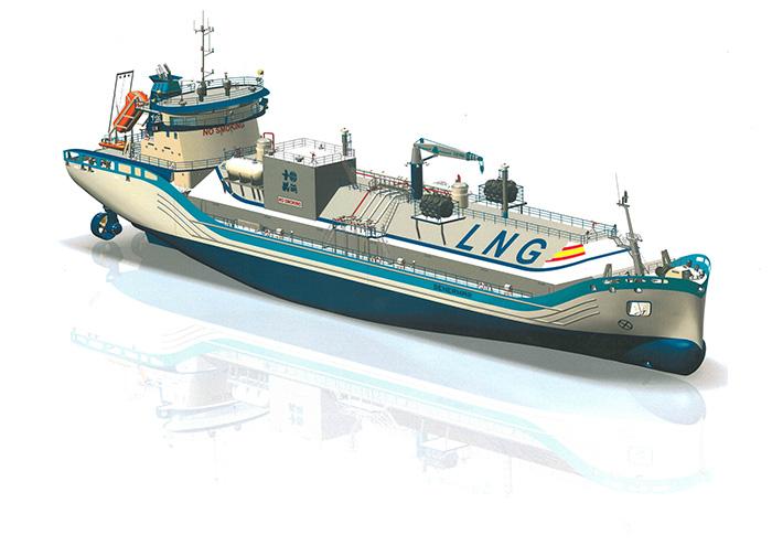 Buque de suministro de LNG diseñado por SENER (imagen cortesía de SENER)