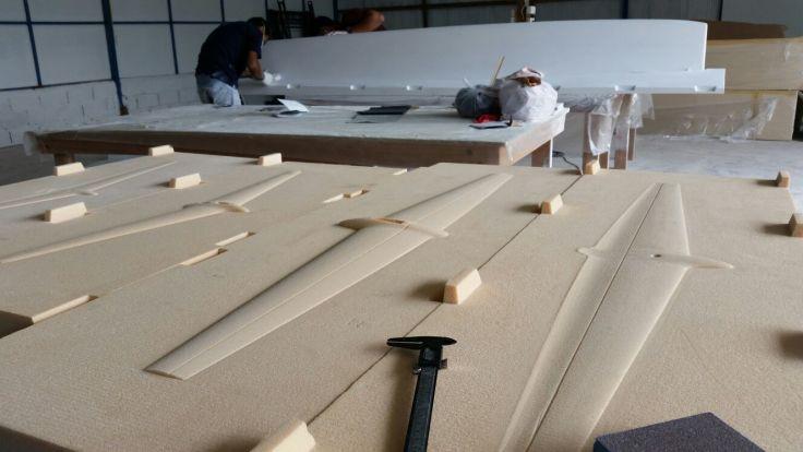 Modelos de foils y flaps, realizados en CNC