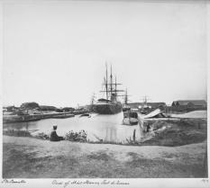 Vapor en astillero en Fort-de-France, Martinica (1872)