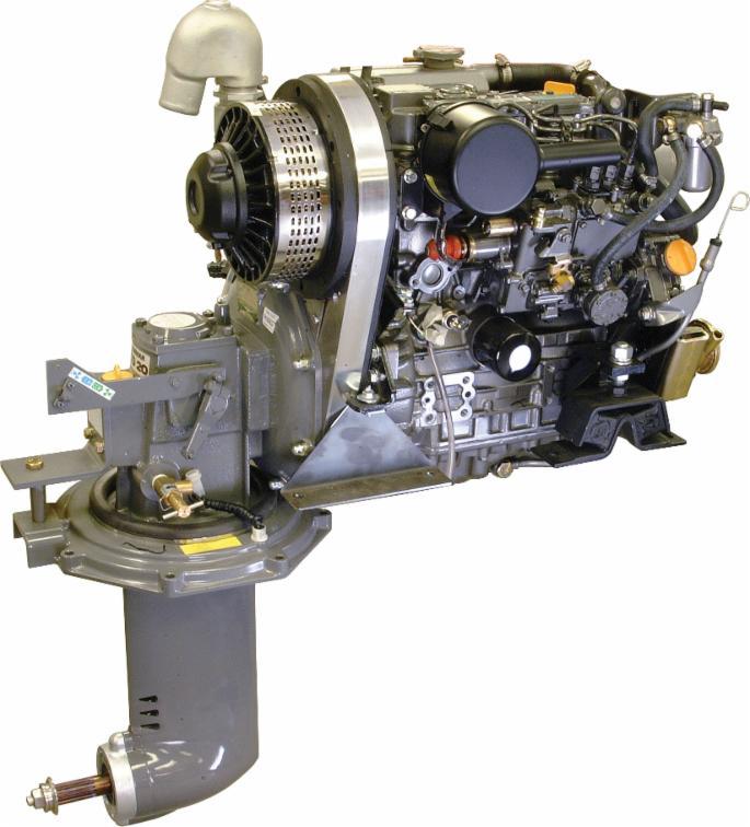 Propulsor en Z para veleros, modelo SD20 híbrido, de Hybrid-Marine , basado en un motor Yanmar (aunque este no es un producto oficial de Yanmar). Su catálogo se puede descargar aquí.