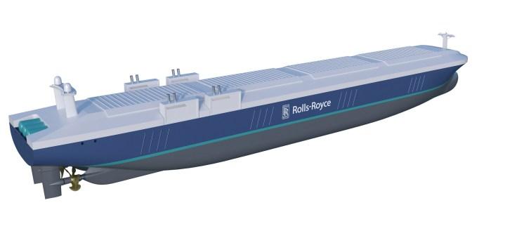 Futuro barco autónomo; imagen cortesía de Rolls-Royce